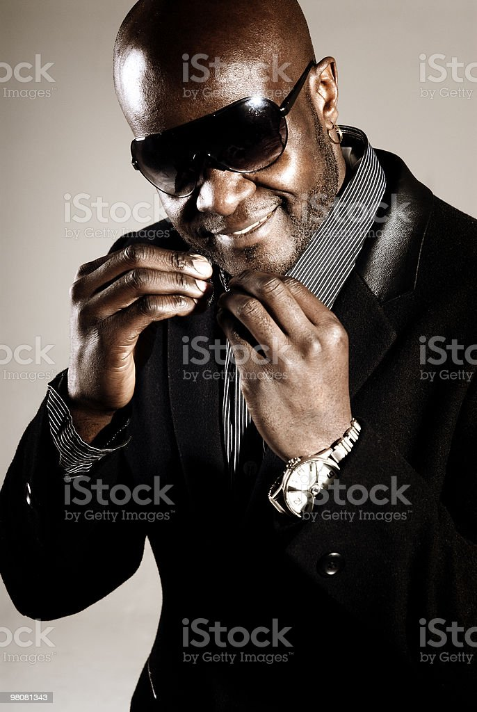 Black male fashion royalty-free stock photo