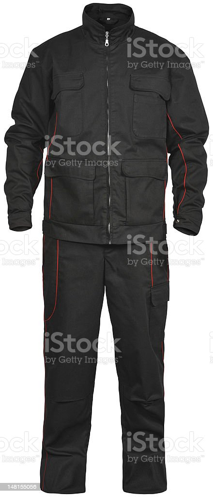 black male jumpsuit isolated on white stock photo