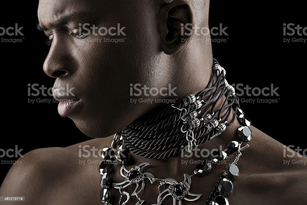 Black Male Model Wearing Luxury Jewelry Stock Photo Download