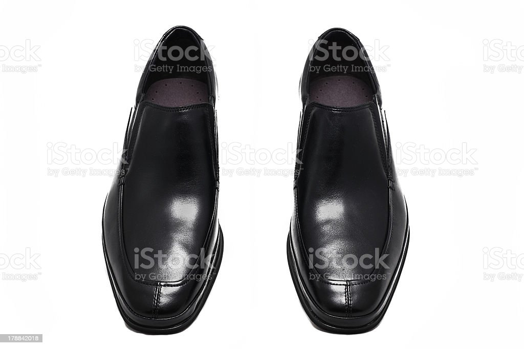 Black male shoes royalty-free stock photo
