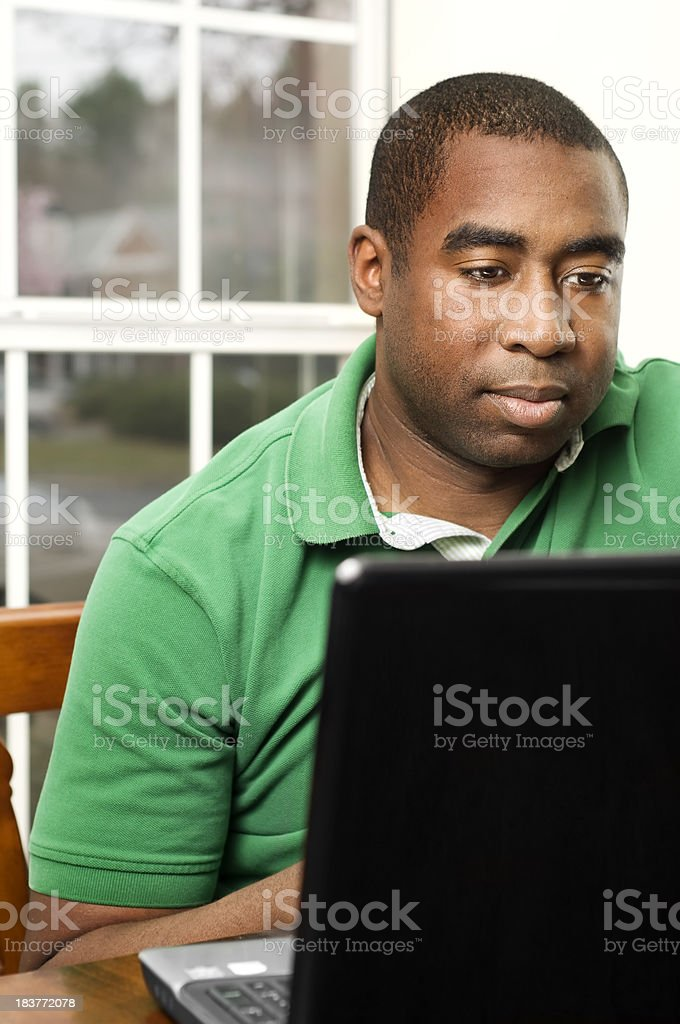 Black Male Studying royalty-free stock photo