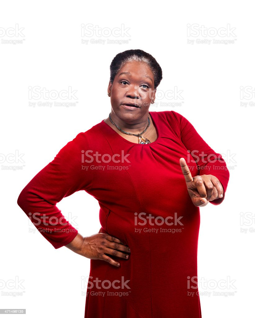 Black Mamma gives you Hell No attitude royalty-free stock photo