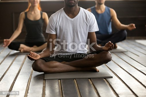 istock Black man and a group of people in Easy Seat 922344878