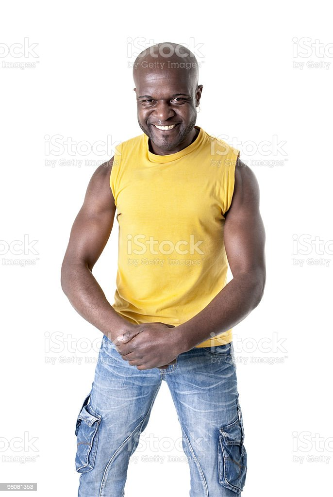 Black man cheerful royalty-free stock photo