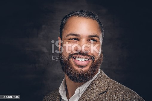 istock Black man in a wool suit. 920982610