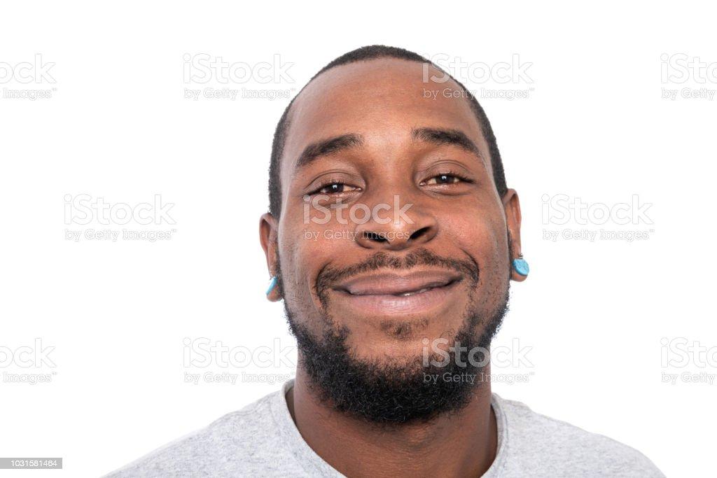 Black man looking up