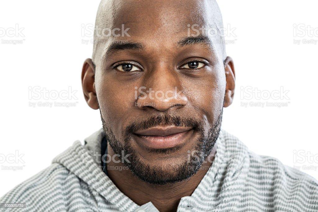 Black man portrait stock photo
