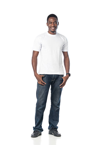 Black Man Smiling stock photo