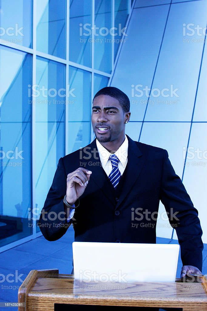 Black Man Speech royalty-free stock photo