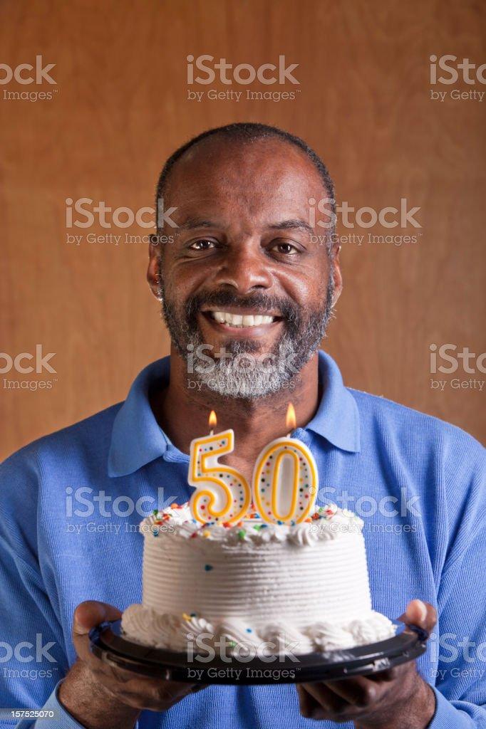 Schwarzer Mann drehen fünfzig – Foto