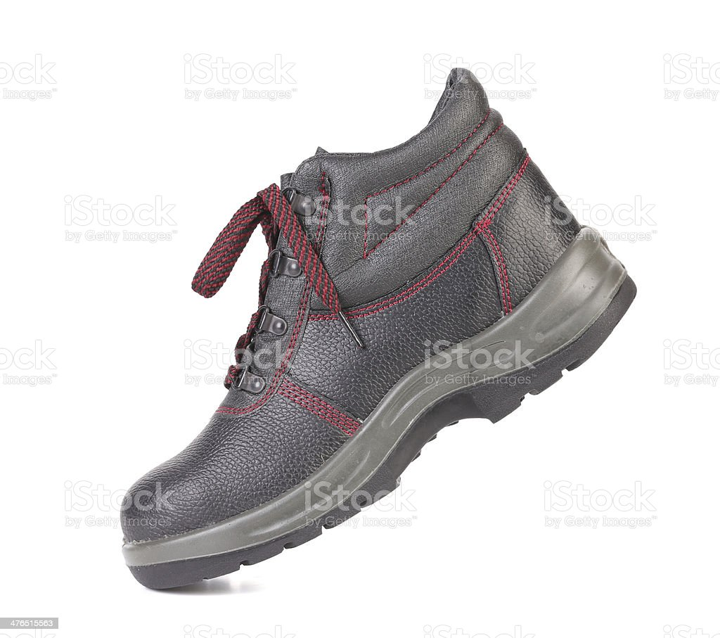 Black man's boot royalty-free stock photo