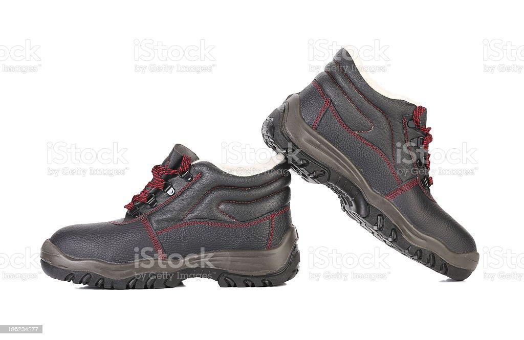 Black man's boots. royalty-free stock photo