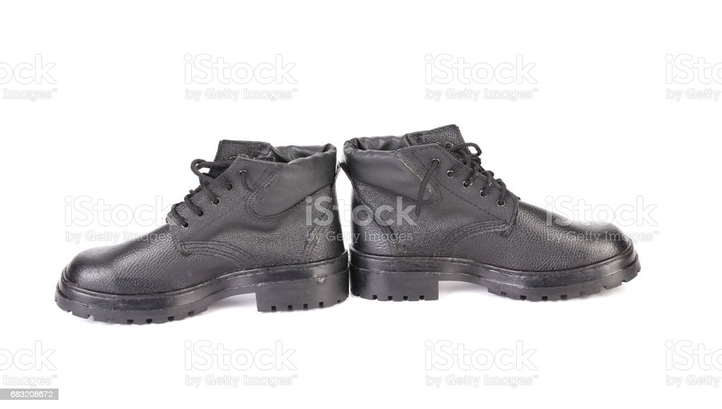 Black man's boots. royalty-free stock photo