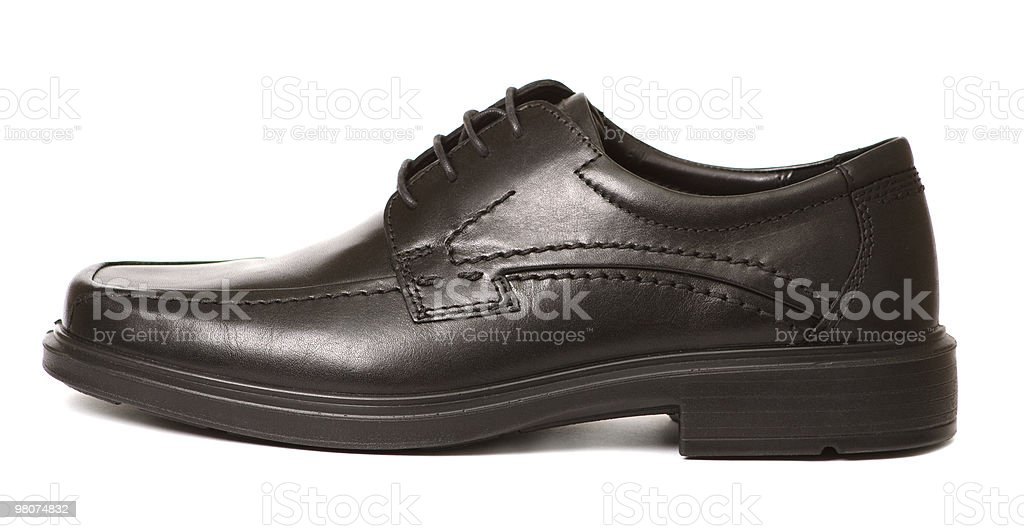Black man's shoe isolated royalty-free stock photo