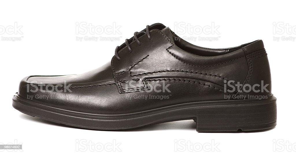 Black man's shoe isolated stock photo
