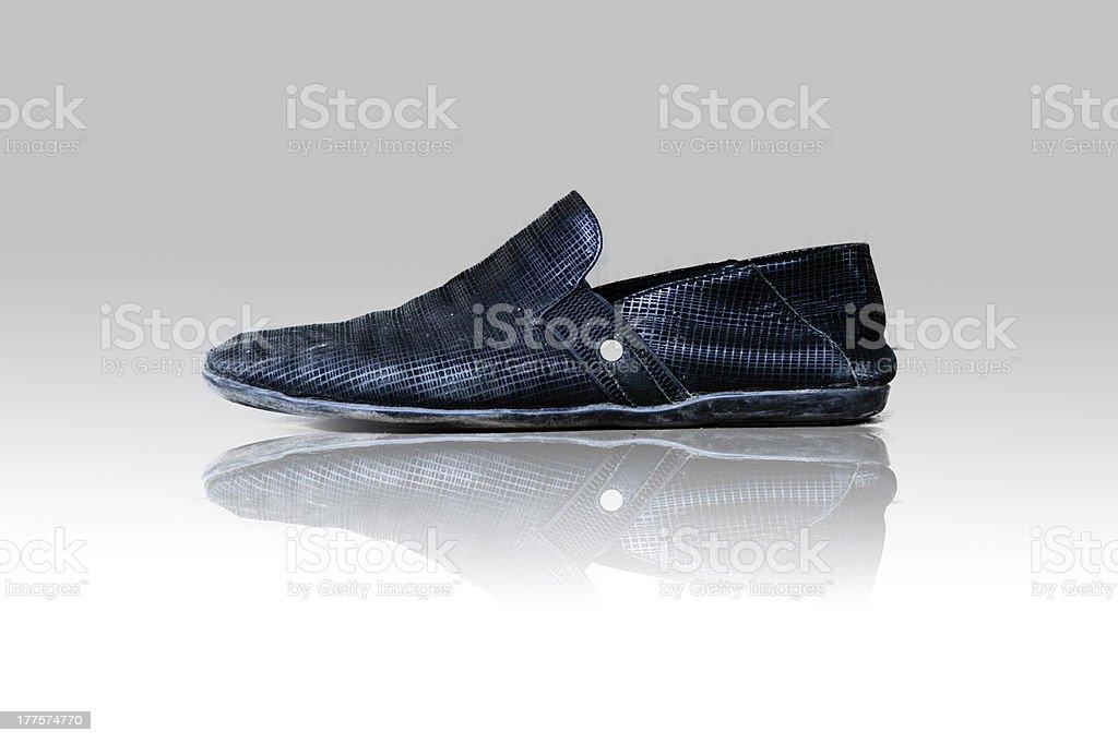 Black man's shoes royalty-free stock photo