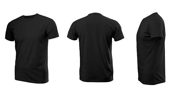 black man's t-shirt with short sleeves - korte mouwen stockfoto's en -beelden
