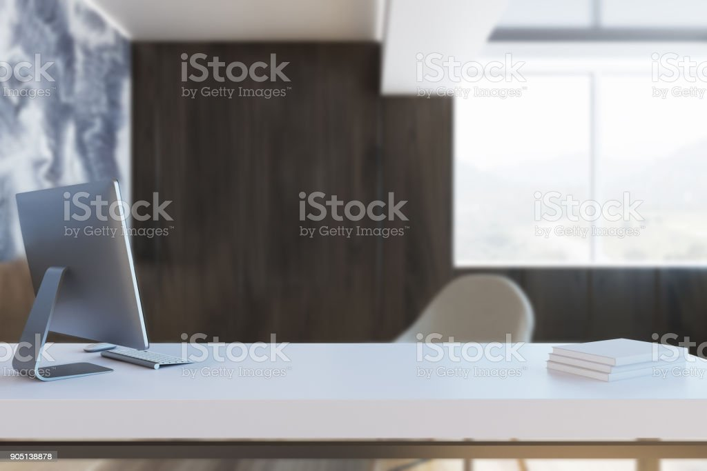 Black Marble And Wooden Ceo Office Blur Stock Photo Download Image Now Istock