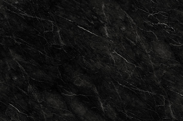 Black marble natural pattern for background, abstract black and white, granite texture stock photo