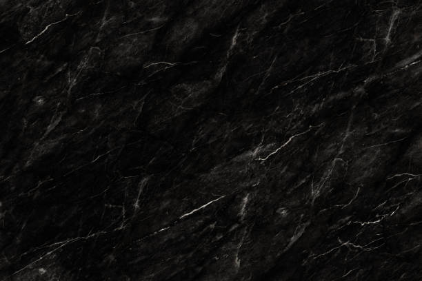 Black marble patterned texture background, abstract marble texture background for design. granite texure - foto stock