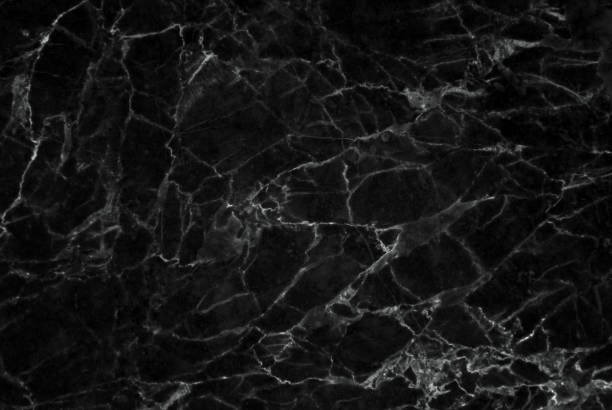 Black marble patterned texture background. stock photo