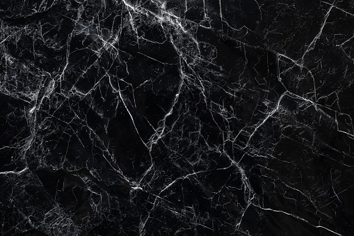 Black marble stone Texture Nature abstract background Floor tile decoration