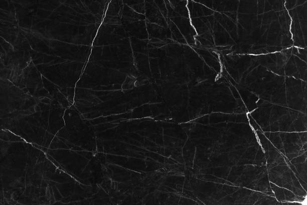 Black marble texture background, Detailed genuine marble from nature. - foto stock