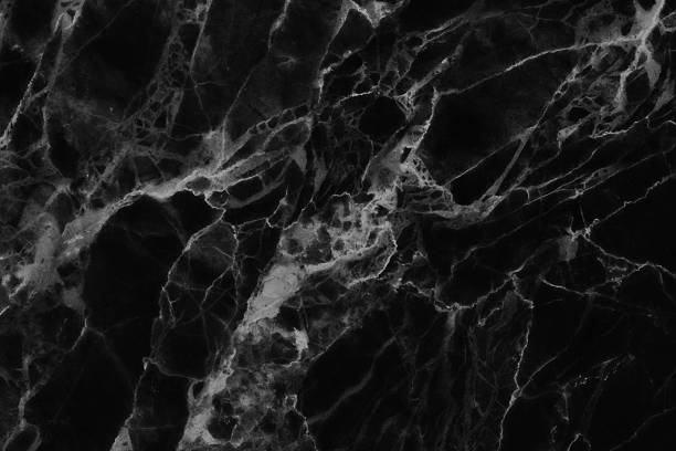 Black marble texture, detailed structure of marble in natural patterned. stock photo