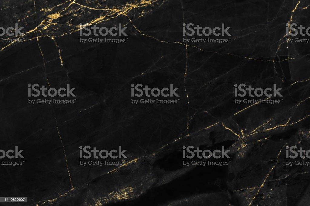 Kapak kitap veya broşür, poster veya gerçekçi iş ve tasarım sanat için altın desen arka plan tasarımı ile siyah mermer doku. - Royalty-free Altın - Metal Stok görsel
