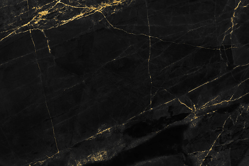 Black marble texture with gold pattern background design for cover book or brochure, poster or realistic business and design artwork.