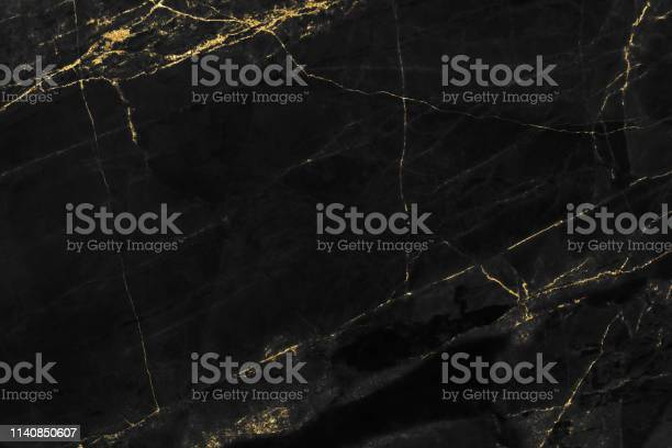Photo of Black marble texture with gold pattern background design for cover book or brochure, poster or realistic business and design artwork.