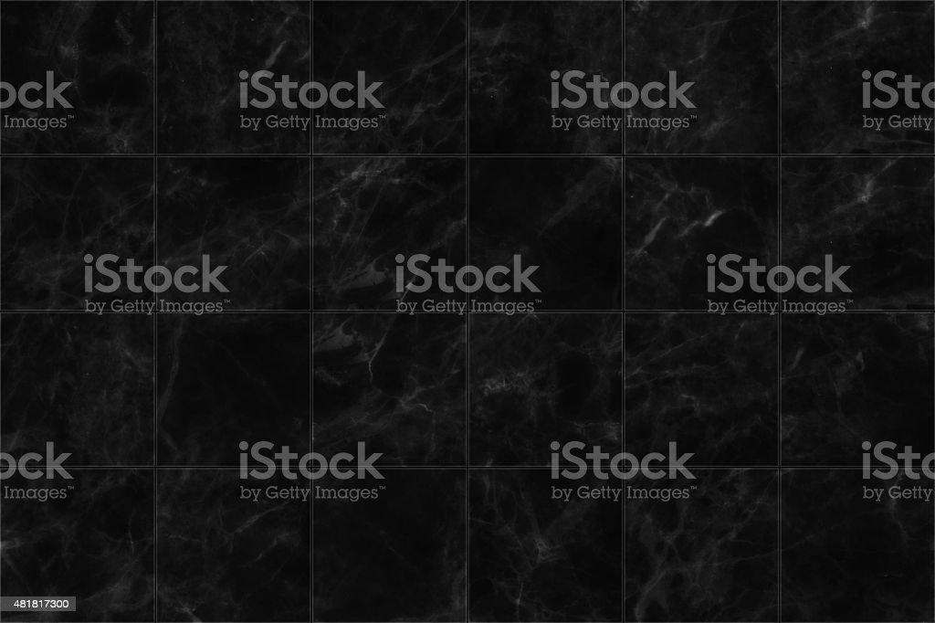 Pavimento di piastrelle in marmo nero seamless texture per il design
