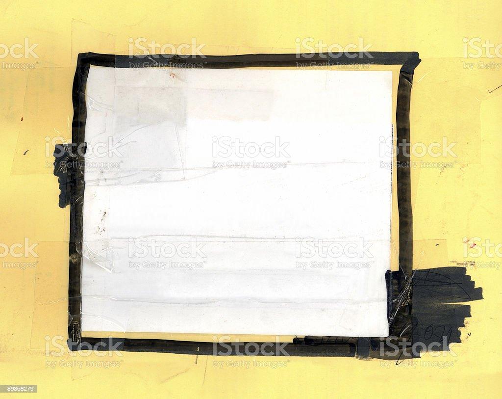 Black Marker  Frame royaltyfri bildbanksbilder