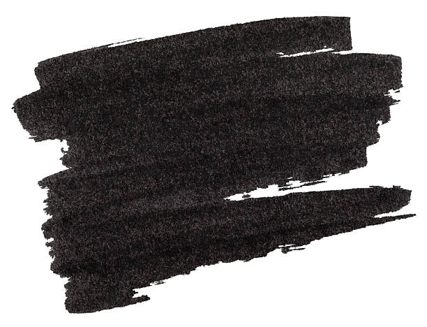 Black marker paint texture Black marker paint texture isolated on white background brush stroke stock pictures, royalty-free photos & images