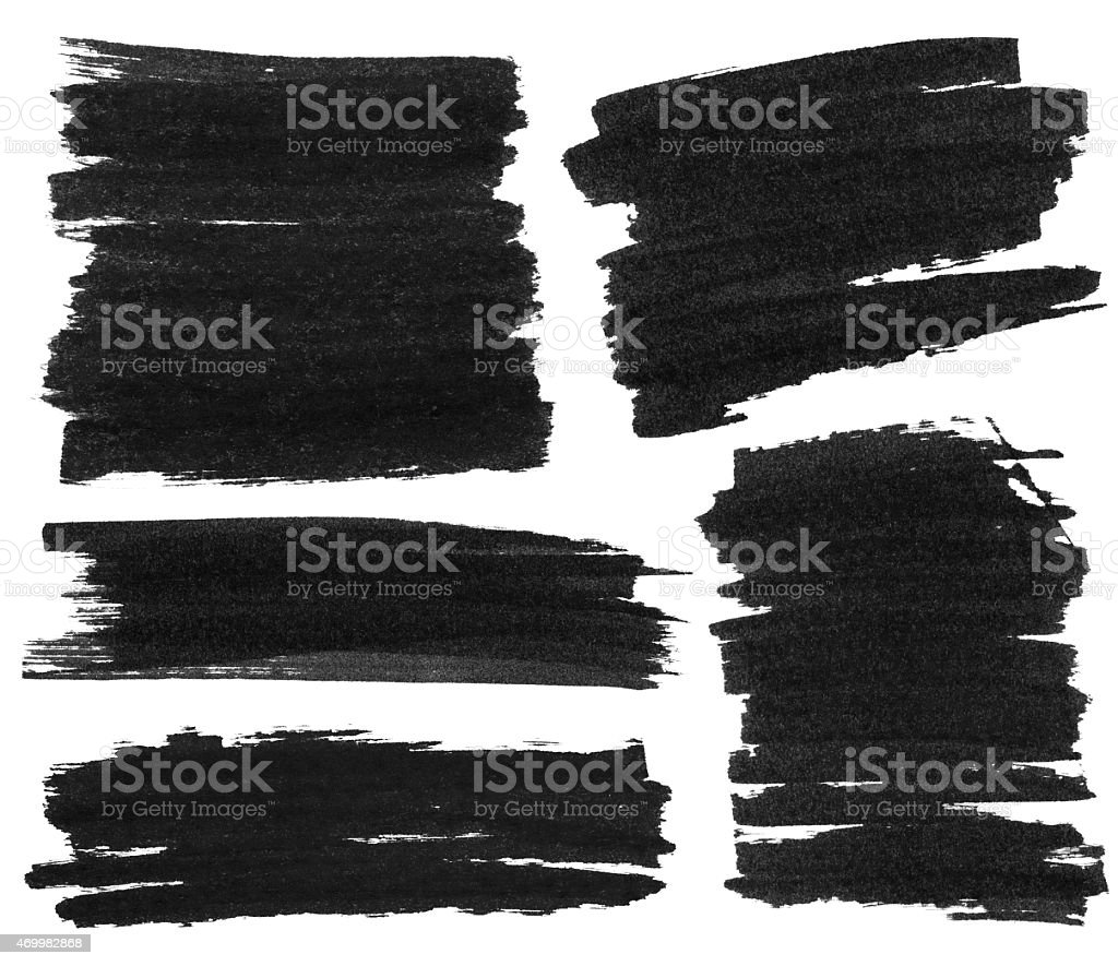 Black Marker Paint Texture Stock Photo More Pictures of 2015 iStock