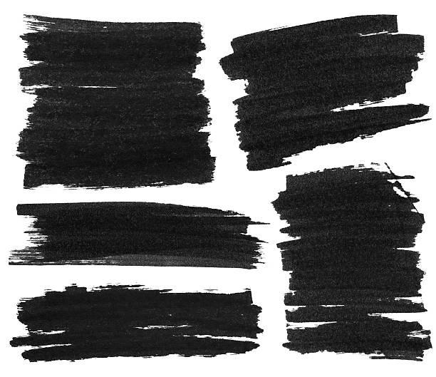 marqueur noir texture de peinture - stylo feutre photos et images de collection