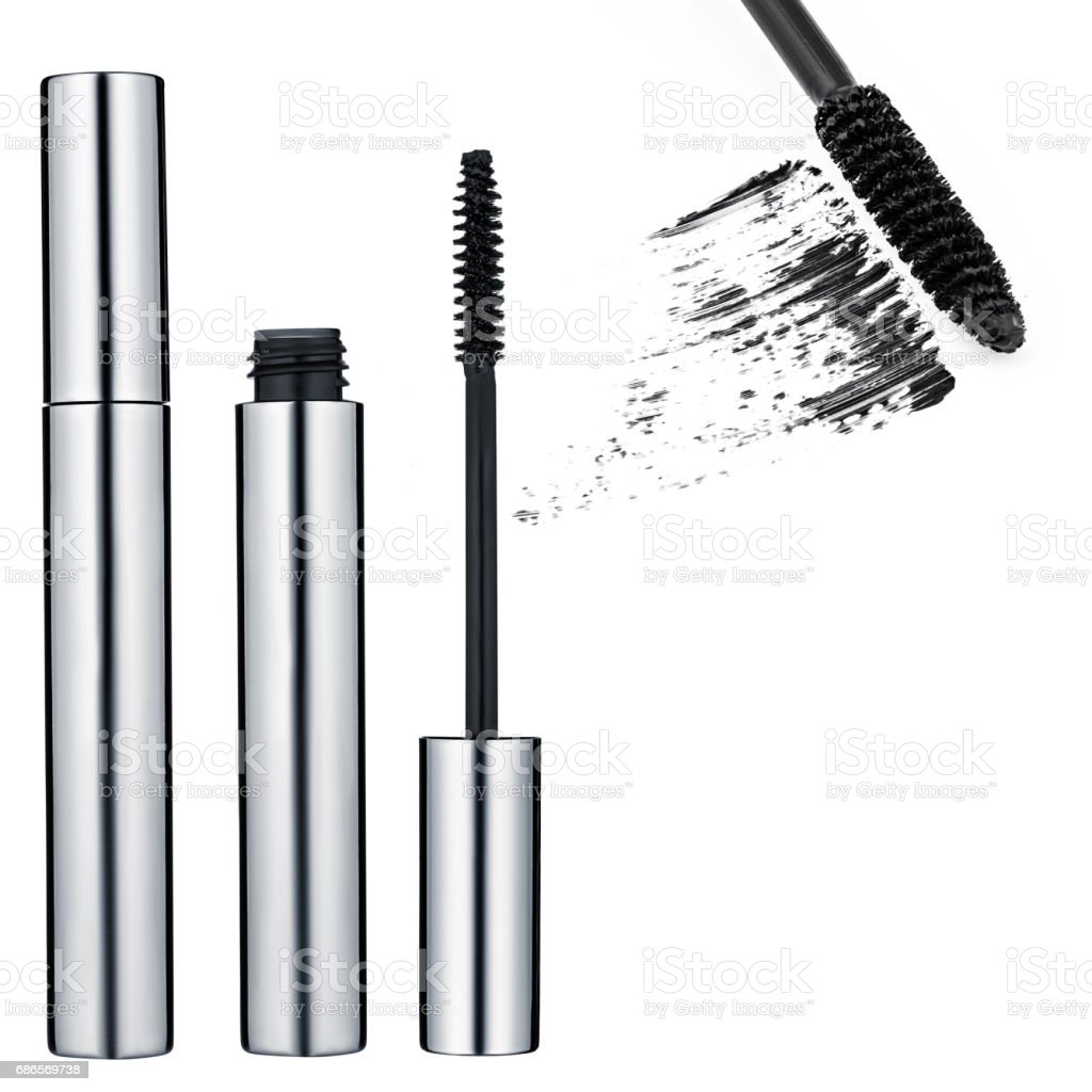 black mascara, false eyelashes royalty-free stock photo