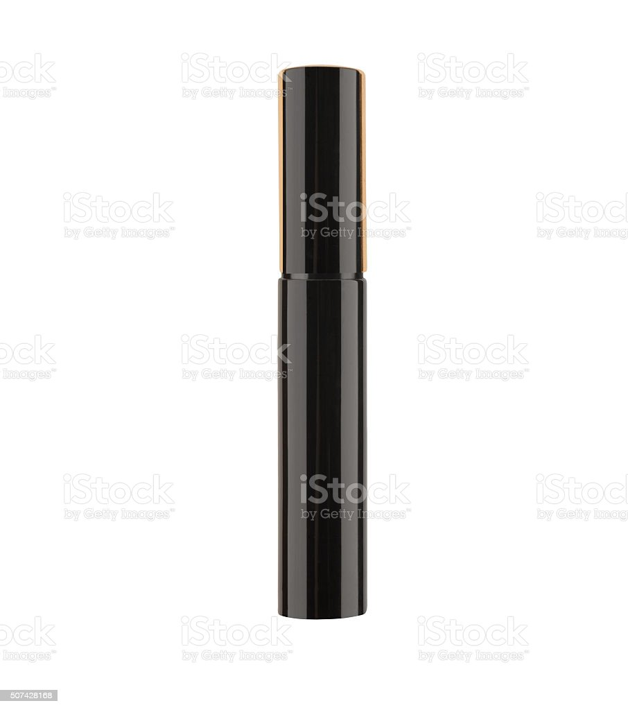 black mascara isolated on white background stock photo