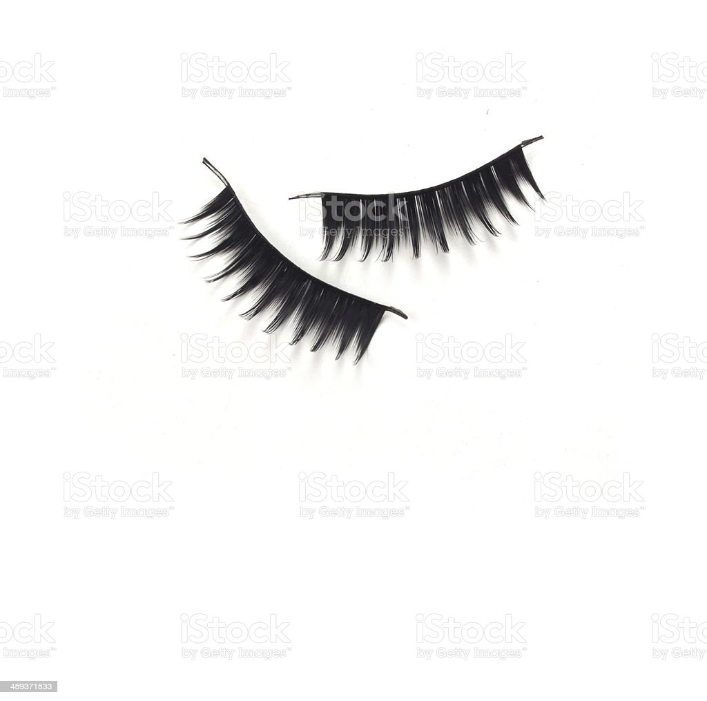 black mascara stroke isolated stock photo