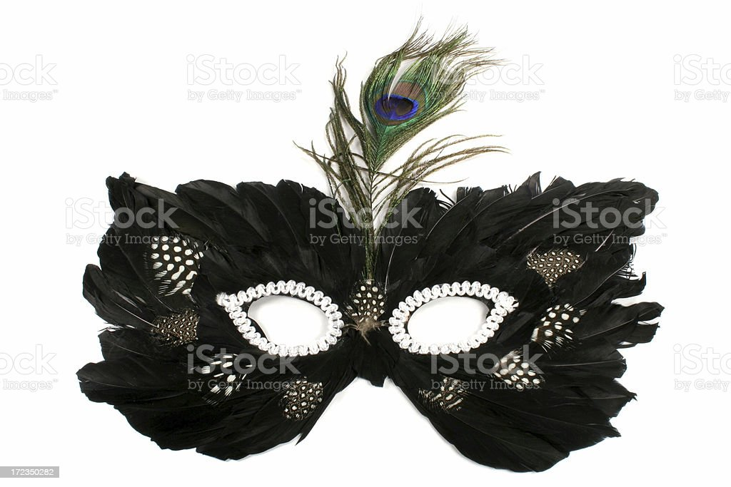 black mask royalty-free stock photo