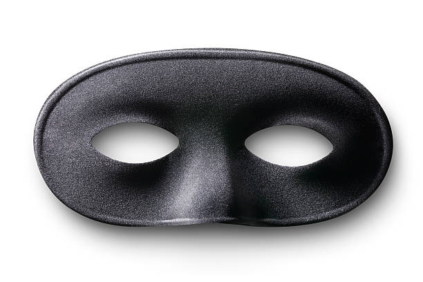 black mask - mask disguise stock photos and pictures