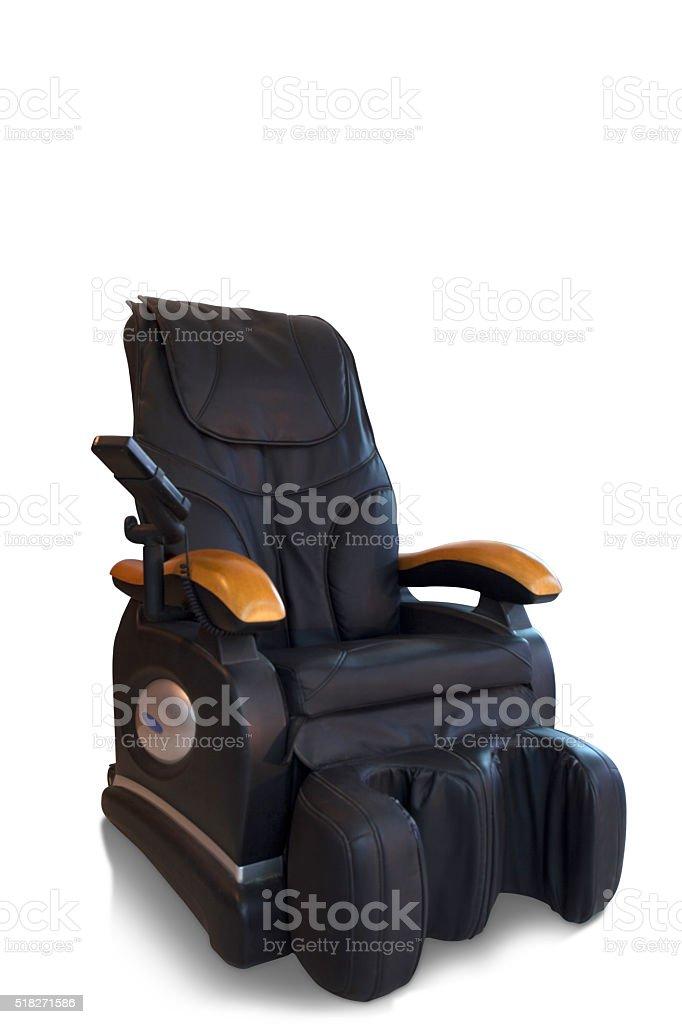 Black massage chair stock photo