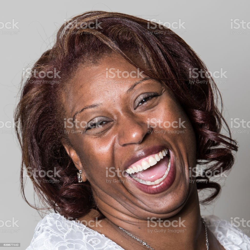 black mature woman laughing stock photo & more pictures of 2015 | istock