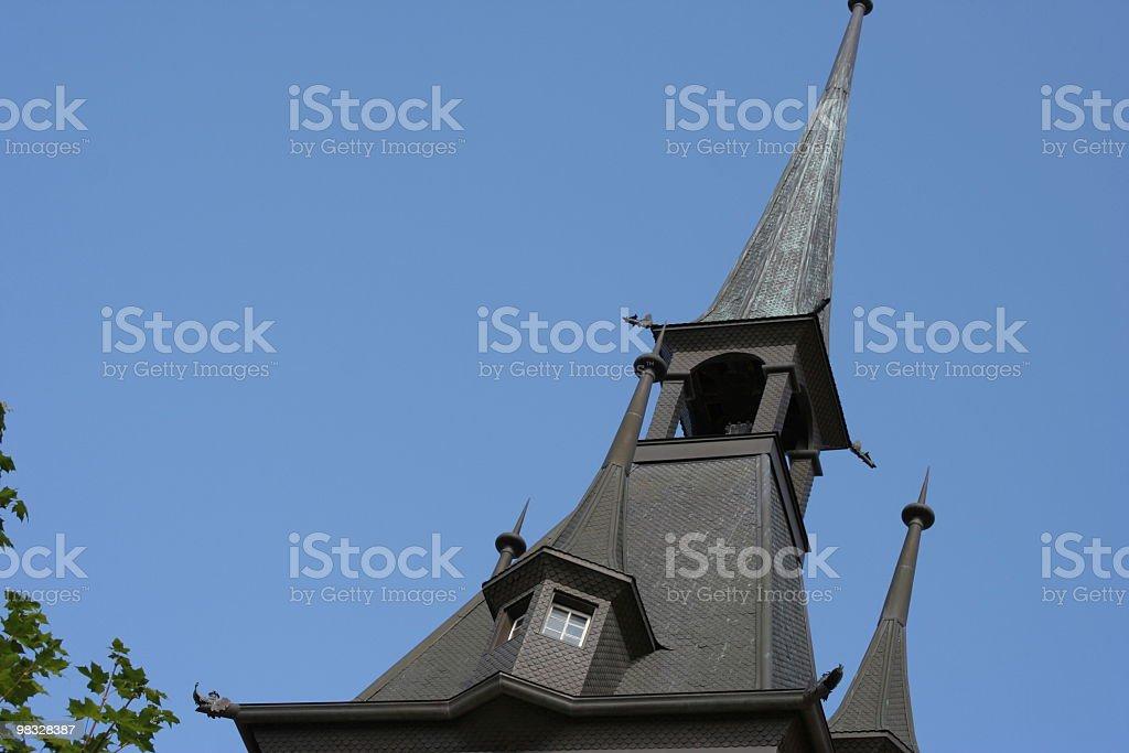 Torre medievale nero foto stock royalty-free