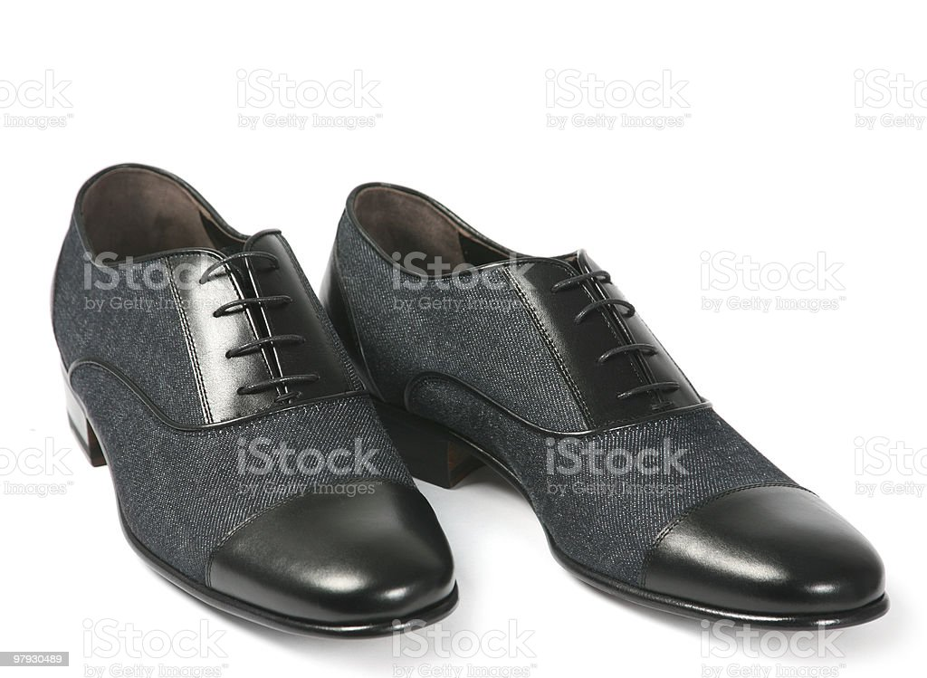 Black men shoes royalty-free stock photo
