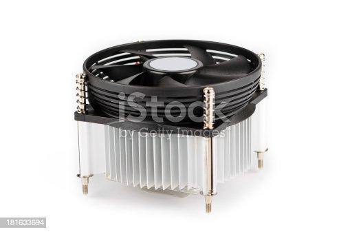 istock Black metal cooler heatsink 181633694
