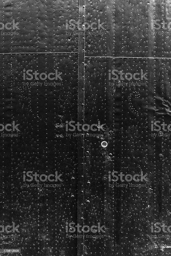 Black metal door royalty-free stock photo