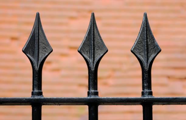 Black Metal Fence stock photo