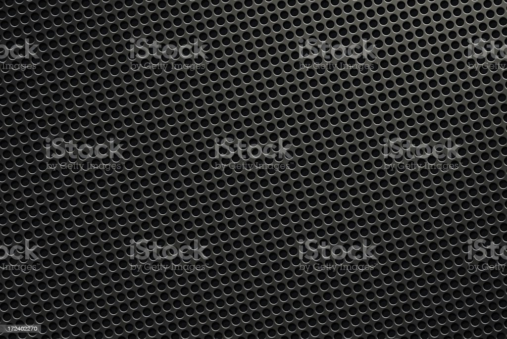 Black metal grid background stock photo