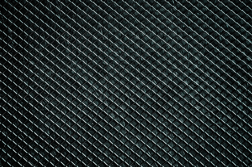 Black metal grid. Abstract background